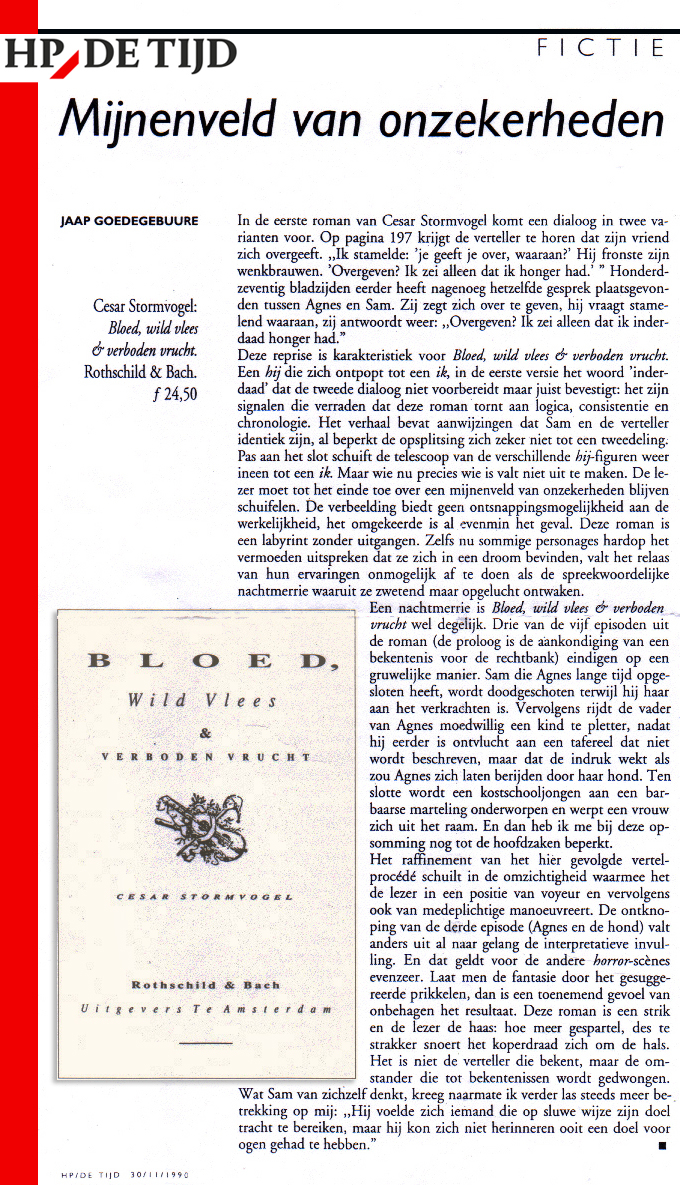 Stormvogel Recensie HP De Tijd 1990