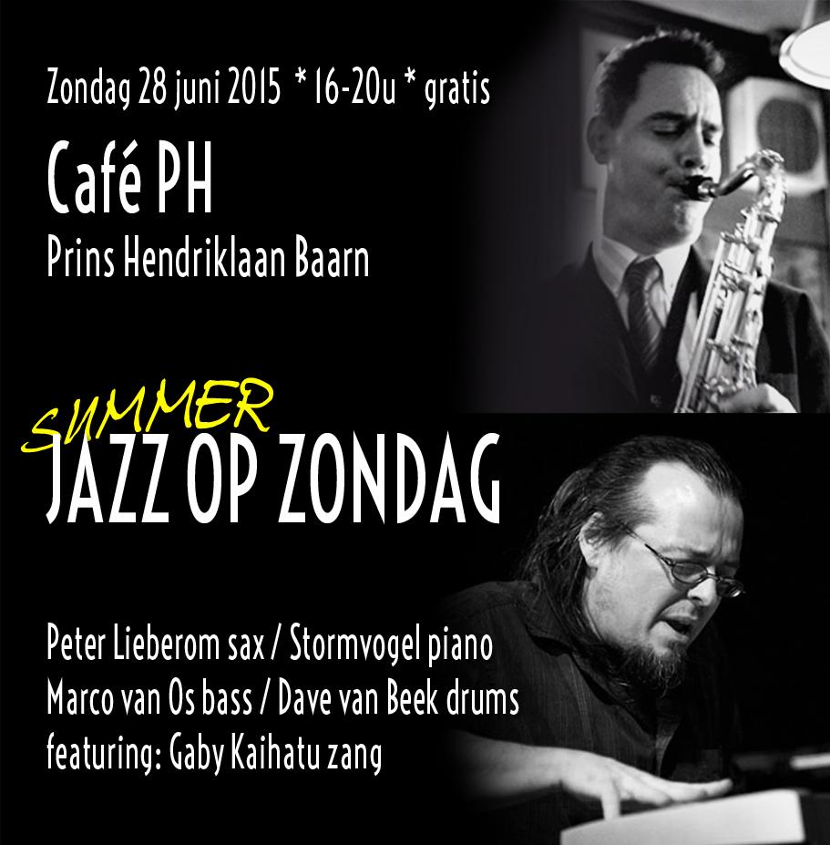 JAZZ OP ZONDAG Stormvogel Peter Lieberom Cafe PH PRINS HENDRIK BAARN