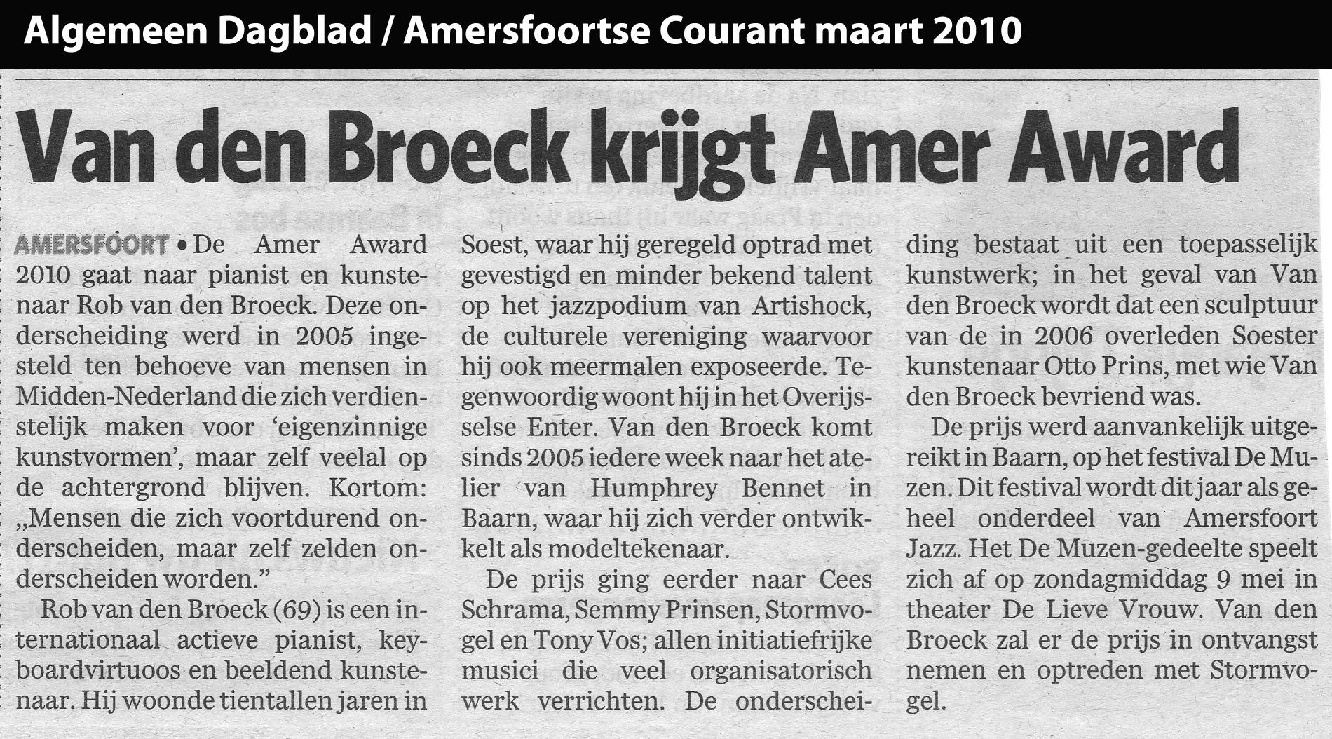 Amer Award 2010 artikel AD/AC