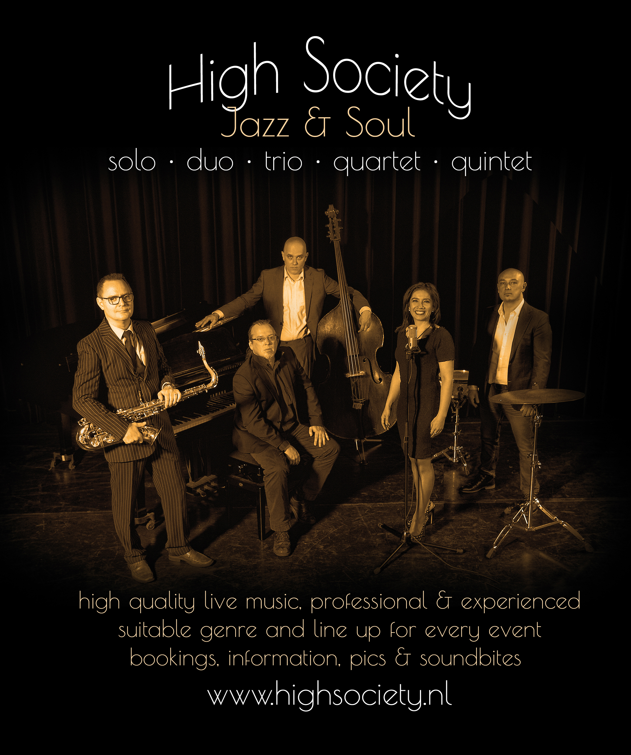 HIGH SOCIETY JAZZ QUINTET 72dpitekst